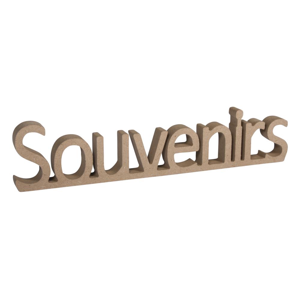 MDF Wort Souvenirs,FSC Mix Credit, 25x1,5x5,5cm