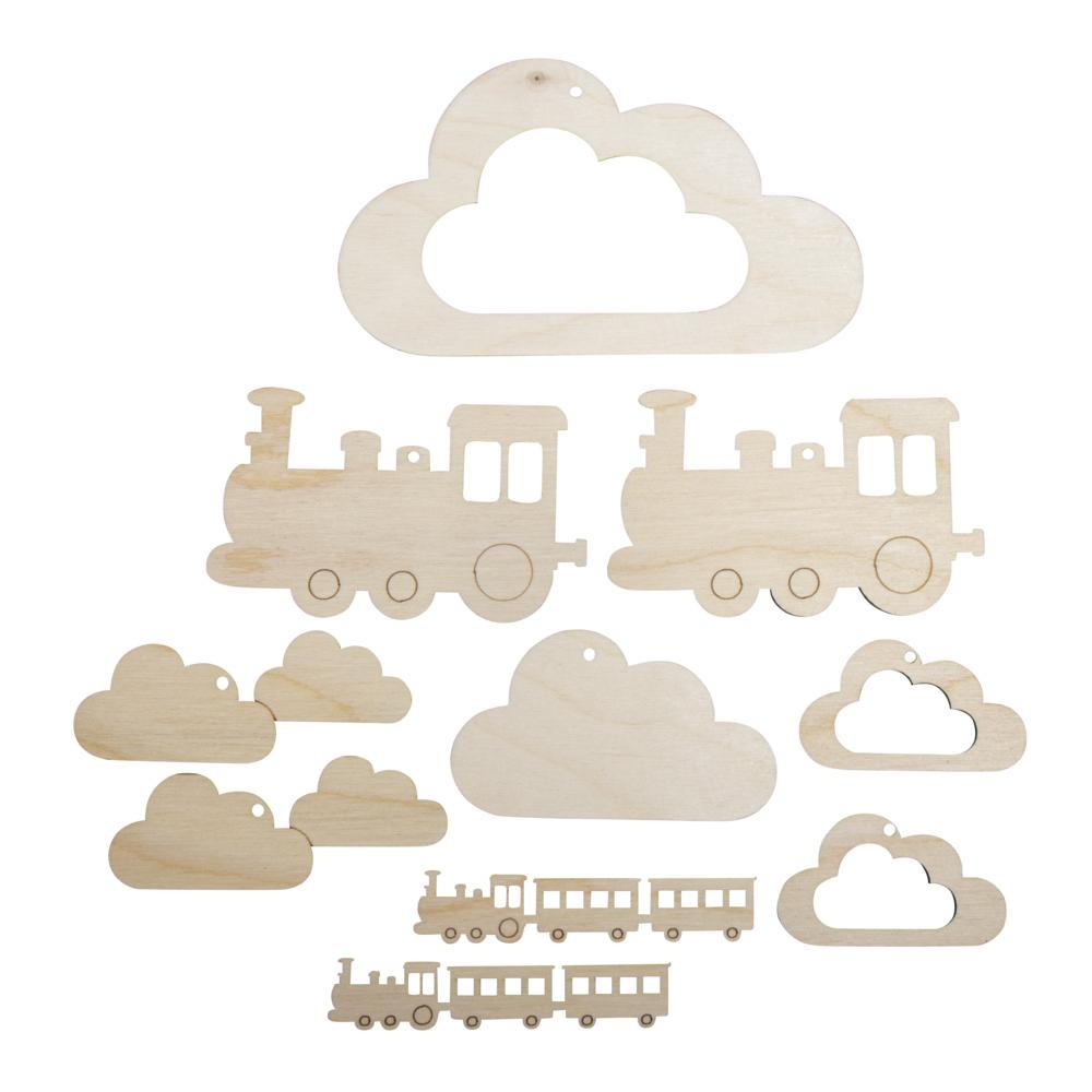 H-Anhänger f.Mobile kl. Zug,FSCMixCred, 10-tlg. 6-14cm, SB-Btl 1Set, natur
