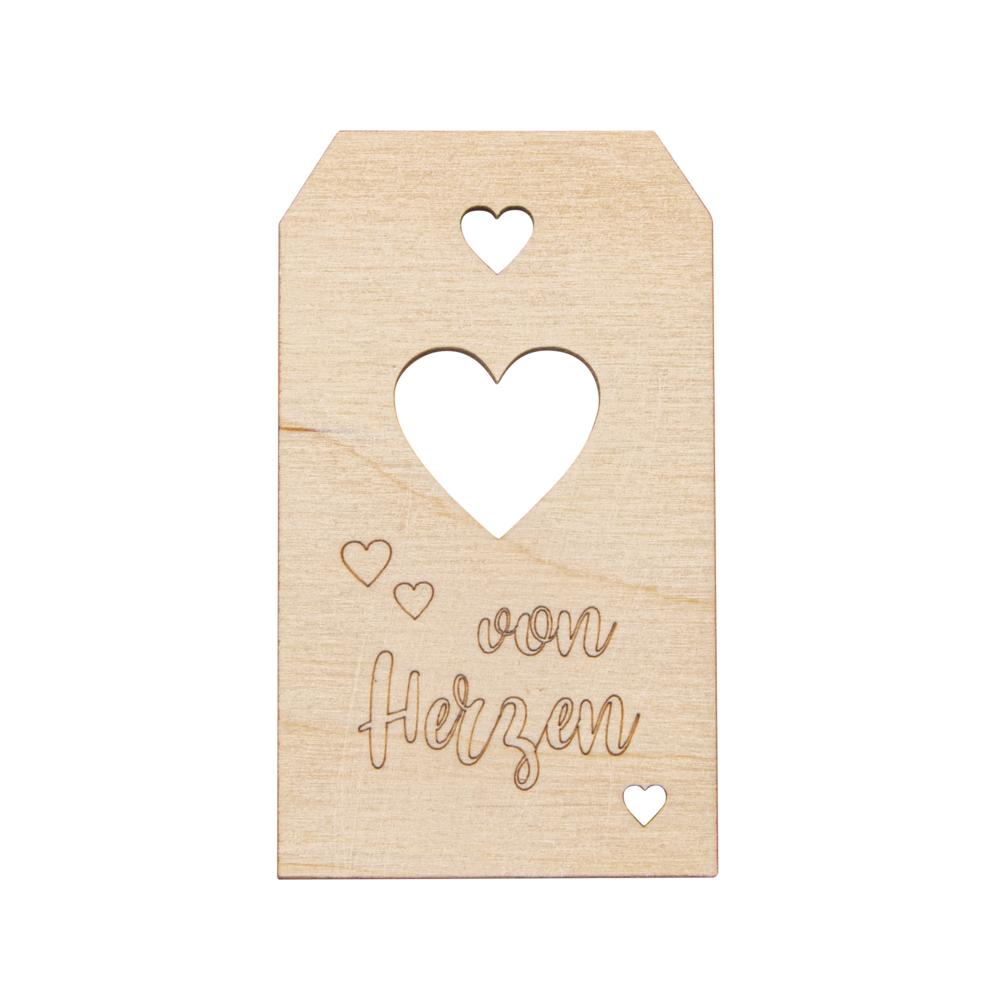 H-Anhängervon Herzen,FSCMixCred, 4,7x8,2cm, natur