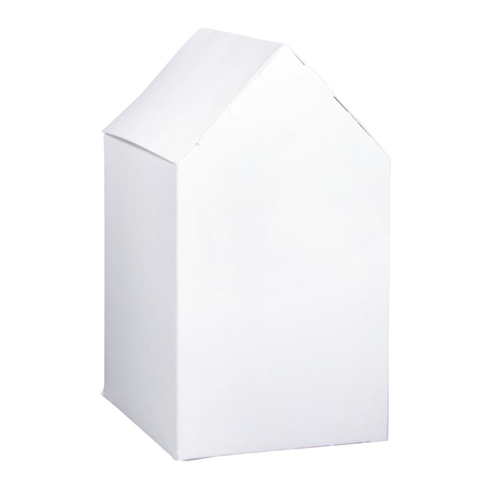 Faltschachtel Haus, 7,5x7,5x14cm, Set 12Stück, weiß