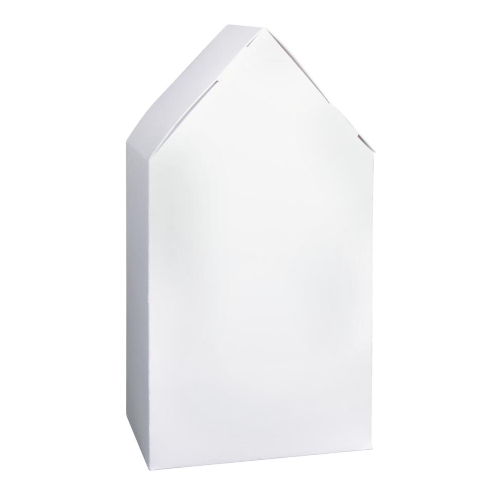 Faltschachtel Haus, 10x7,5x20cm, Set 6Stück, weiß